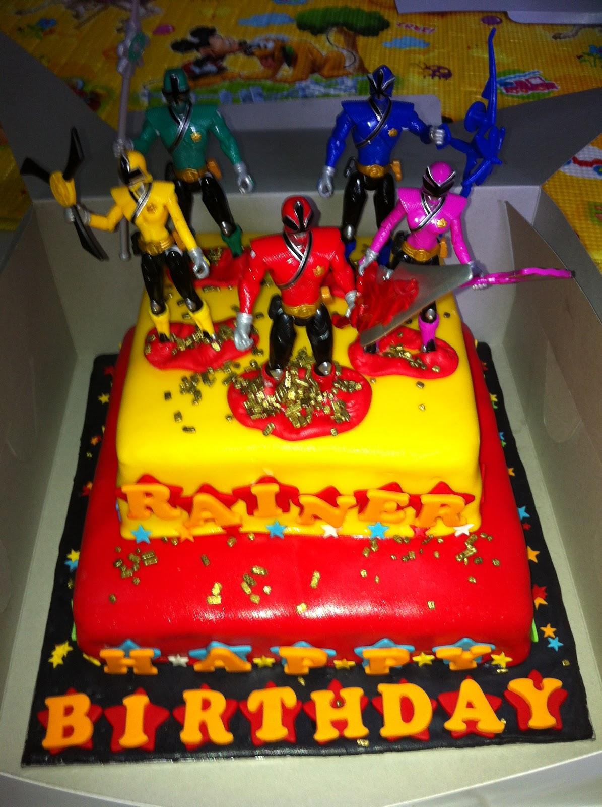 Sofia Cakes Power Rangers Samurai Tiered Cake